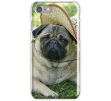 Pug with a hat iPhone Case/Skin