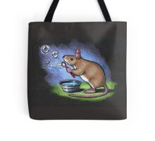 Little Mouse Blowing Bubbles, Original Pastel Art Tote Bag