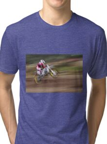 motocross 12 (t) in Modern Art, Watercolor or Picasso and Dali ! by way Olavia-Okaio Creations with fz 1000 .... 500 000 2016 Photos Tri-blend T-Shirt