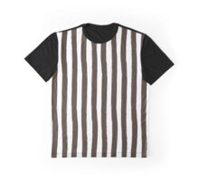 Preppy Chocolate Brown and White Cabana Stripes Graphic T-Shirt