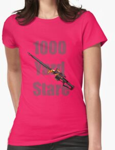 1000 Yard Stare Womens Fitted T-Shirt