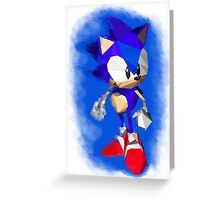 Sonic the Hedgehog - Low Poly Greeting Card