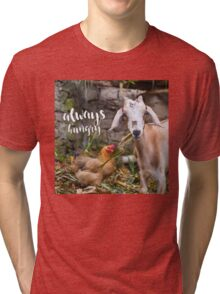 Always Hungry - hungry lil' goat  Tri-blend T-Shirt