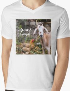 Always Hungry - hungry lil' goat  Mens V-Neck T-Shirt