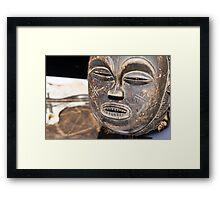 wooden mask Framed Print