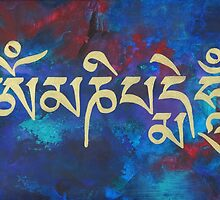 Om Mani Padme Hum (Tibetan) by Ria  Rademeyer