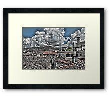 Barga Rooftops Framed Print