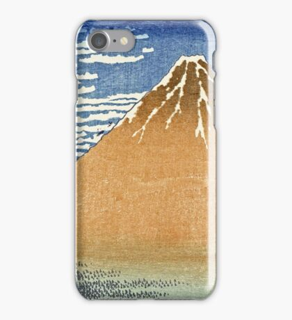 Hokusai Katsushika - Fine Wind, Clear Morning  (The Red Fuji)  iPhone Case/Skin
