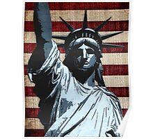 Liberty Flag Poster