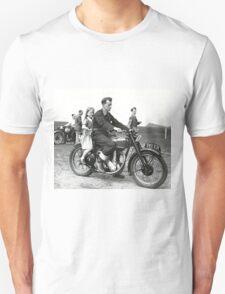 Girl on a bike Unisex T-Shirt