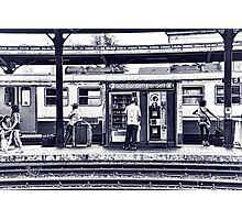 Train Station Lucca Italy Photographic Print