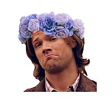 Sam Winchester Moose Flower Crown  Photographic Print