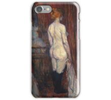 Henri De Toulouse Lautrec Woman Before A Mirror 1897  iPhone Case/Skin