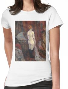 Henri De Toulouse Lautrec Woman Before A Mirror 1897  Womens Fitted T-Shirt