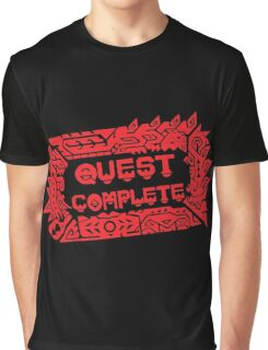 Monster Hunter Quest Complete angled Graphic T-Shirt