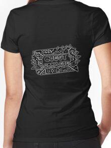 Monster Hunter Quest Complete - Black Women's Fitted V-Neck T-Shirt