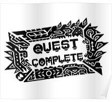 Monster Hunter Quest Complete - Black Poster