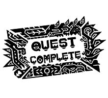 Monster Hunter Quest Complete - Black Photographic Print