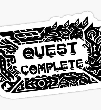 Monster Hunter Quest Complete - Black Sticker
