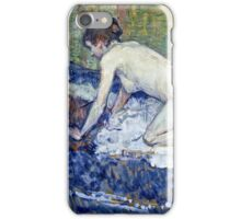 Henri De Toulouse Lautrec -  Red Headed Nude Crouching  iPhone Case/Skin