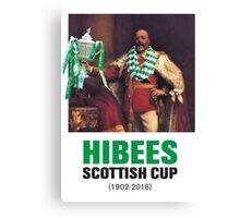 Hibs scottish Cup winners 2016 Canvas Print