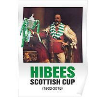 Hibs scottish Cup winners 2016 Poster