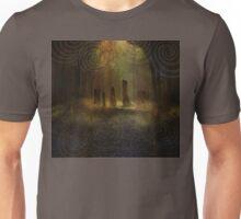 Standing Stones I - Gold Unisex T-Shirt