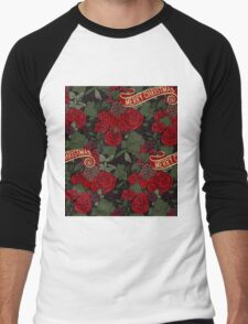 Christmas pattern Men's Baseball ¾ T-Shirt