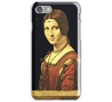 Leonardo Da Vinci - Portrait Of A Lady From The Court Of Milan 1495  iPhone Case/Skin
