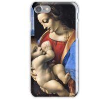 Leonardo Da Vinci - Madonna Litta (Madonna And The Child)  iPhone Case/Skin
