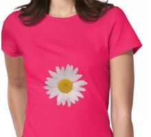 Daisy on peach echo background Womens Fitted T-Shirt