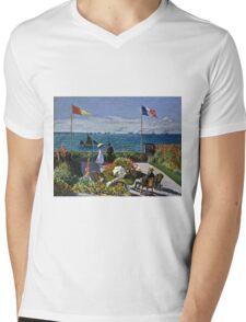Claude Monet - Jardin A Sainte Adresse  Mens V-Neck T-Shirt