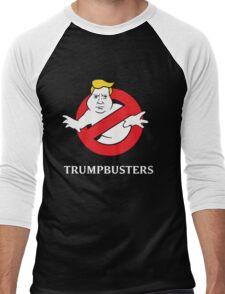 Trump Busters - Donald Trump Ghostbusters Men's Baseball ¾ T-Shirt