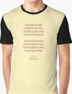 J.R.R, Tolkien, The Fellowship of the Ring, All that is gold does not glitter, Graphic T-Shirt
