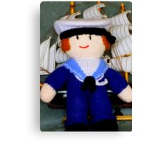 Knitted Dolls Fun 2 Canvas Print