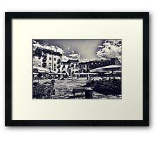 Piazza della Anfiteatro - Lucca Framed Print
