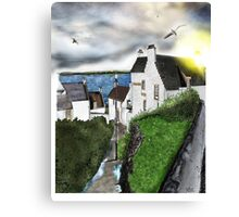 Dysart in Scotland: Architecture Art Print [Scottish Coastal Town ] Canvas Print