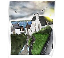 Dysart in Scotland: Architecture Art Print [Scottish Coastal Town ] Poster