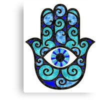 Blue Hamsa Hand  Canvas Print