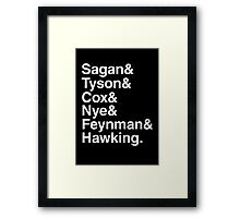 Scientists who have popularised science Framed Print