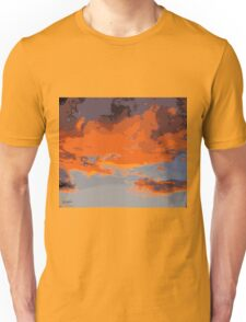 Iceland sunset Unisex T-Shirt