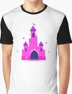 Wild pink Princess castle isolated on white background Graphic T-Shirt