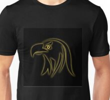Glowing eagle on black  Unisex T-Shirt