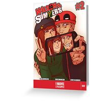 Wilson&Summers fake comic book cover (lettered) Greeting Card
