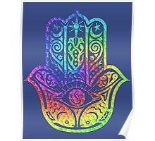 Colorful Mosaic Hamsa Poster