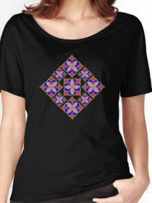 Colorful Flowers Pattern Women's Relaxed Fit T-Shirt