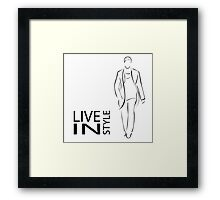 Stylish men Framed Print
