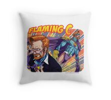 FLAMING C - Flaming Ginger of JUSTICE! Throw Pillow