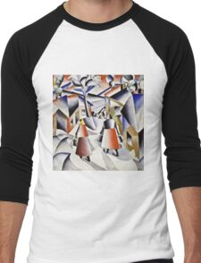 Kazimir Malevich - Morning In The Village After Snowstorm  Men's Baseball ¾ T-Shirt