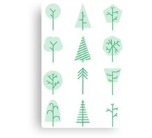 Forest icons Canvas Print